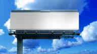 Blank billboard video