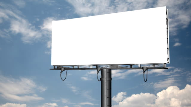 Blank Billboard with Moving Clouds (HD 1080p) video