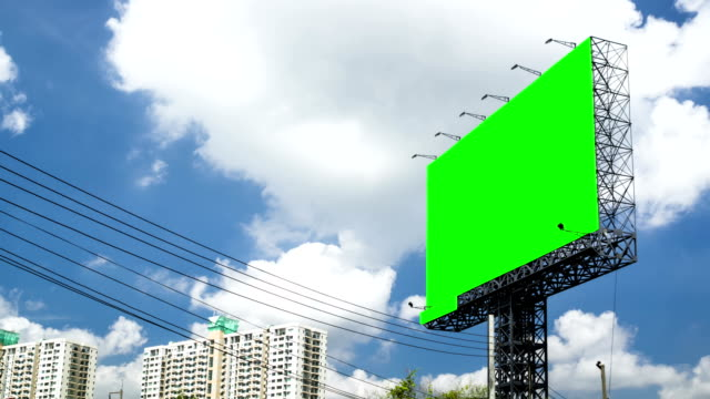 Blank Billboard with Time Lapse Clouds video