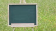 blank chalkboard with wooden easel video