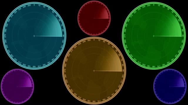 Blank Looping Radar Sweep Animated Elements video