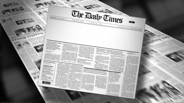 Blank Newspaper Headline (Reveal and Loop) Animation video