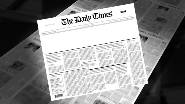 Blank - Newspaper Headline (Intro + Loops) video