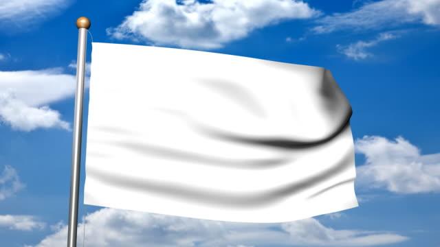 3D  Blank White Flag video