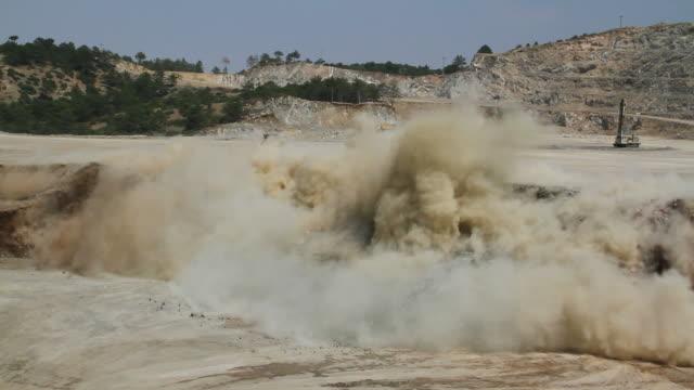 Blast in open pit video