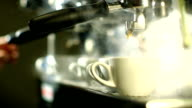 Blast of steam on coffee machine video