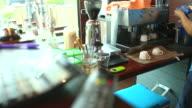Blast of steam on coffee machine video