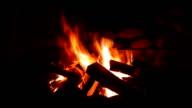 Blazing Campfire video