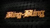 Bling-Bling Glitz Sparkle Text video