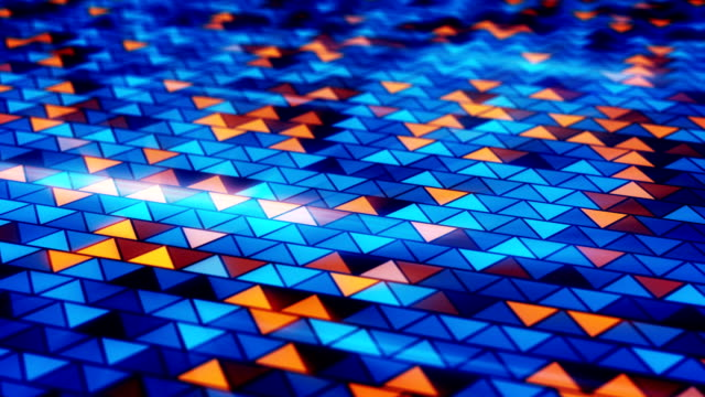 blinking blue orange triangles loopable background video
