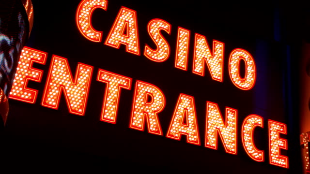 Blinking CASINO ENTRANCE sign, Las  Vegas video