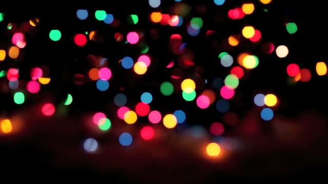 Blinking Christmas Lights at Night - Loopable (HD,NTSC) video