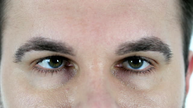 Blinking Eye of Middle Aged Man, Close Up video