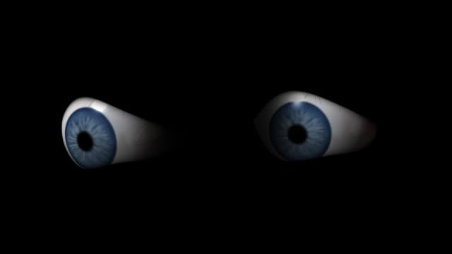 blinking eyes in the dark video