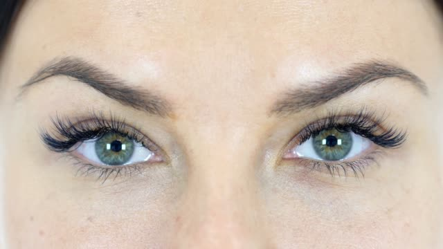 Blinking Eyes of  Woman, Close Up video