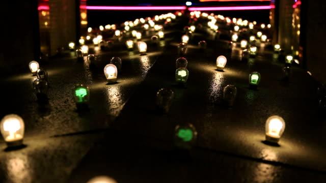 Blinking Rows of Lights in Vegas video