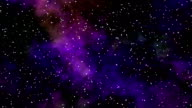 Blinking stars with colorful nebula video