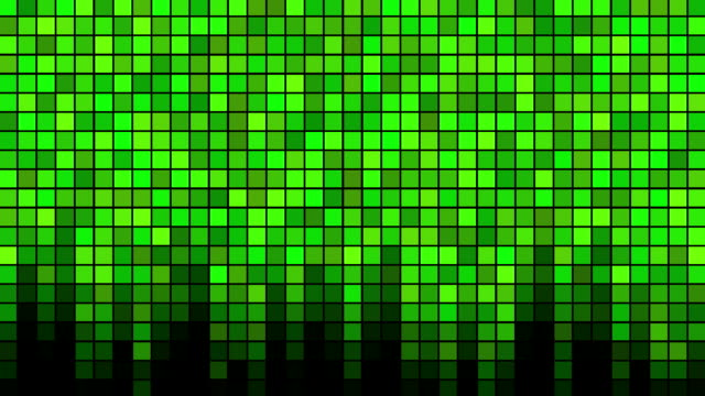 Blinking Tiles Background - Loop Green video