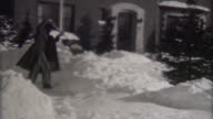 Blizzard in Indiana 1940's video