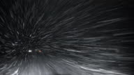 Blizzard on the highway: driving in snowstorm video