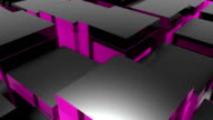 Blocks background. Random animation video