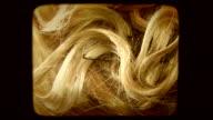Blond curls. Old movie video