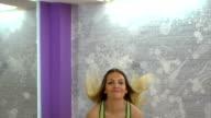 Blonde girl in gym video