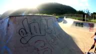 Blonde Girl Skateboarding video