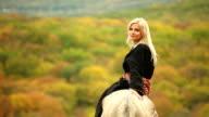 Blonde in eastern robe video