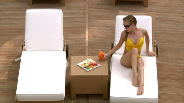 Blonde Model is Relaxing video