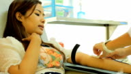 Blood Donation with woman video