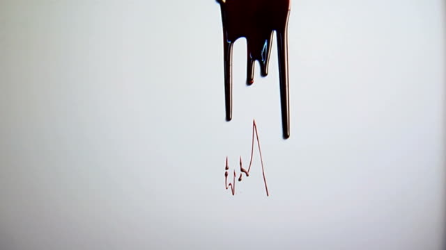 Blood dripping video