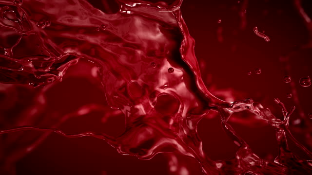 Blood, Red liquid Splashing. Slow motion. video