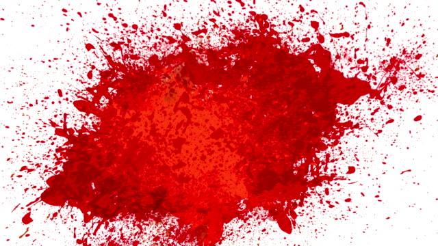 Blood splash animation video