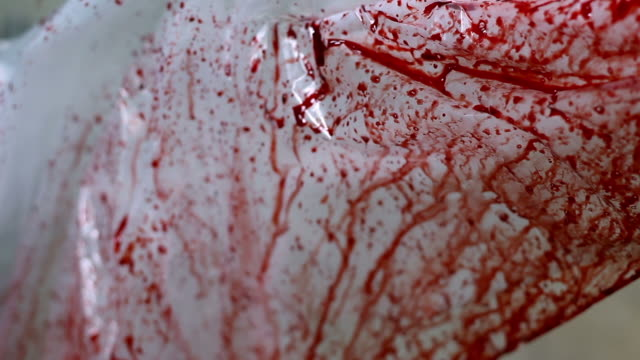 Blood stained plastic sheet video