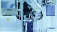 Blood test machine in laboratory video