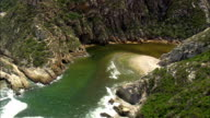 Bloukrans River And Bridge - Eastern & Western Cape  - Aerial View - Eastern Cape,  South Africa video