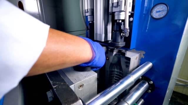A blow molding machine  during operation. video