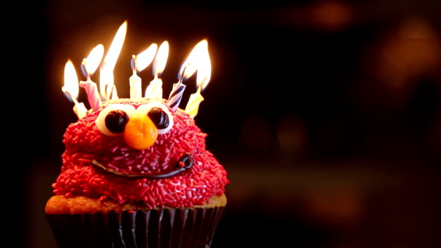 Blow Out Birthday Candles on Cupcake video