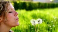SLOW MOTION: Blowing a Dandelion video