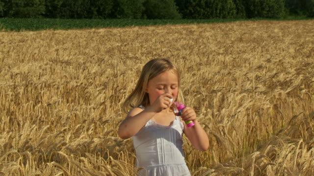HD CRANE: Blowing Bubbles In Wheat video