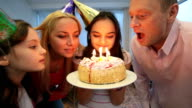Blowing candles video