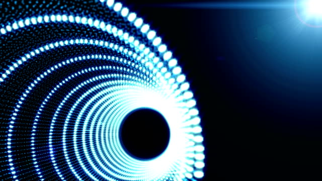 Blue Abstract object Particle seamless background video