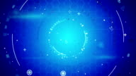 blue abstract techno loopable background video