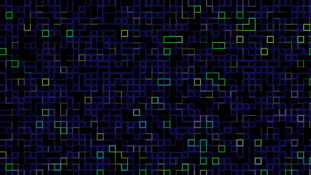 Blue and green digital pattern video
