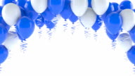 Blue and white balloons video