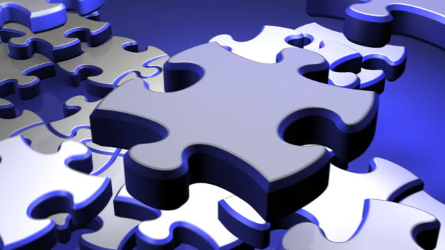 Blue and White Puzzle video