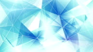 blue and white triangles web pattern loopable video