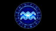 blue aries zodiacal symbol video