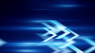 blue arrows fast motion loopable background video